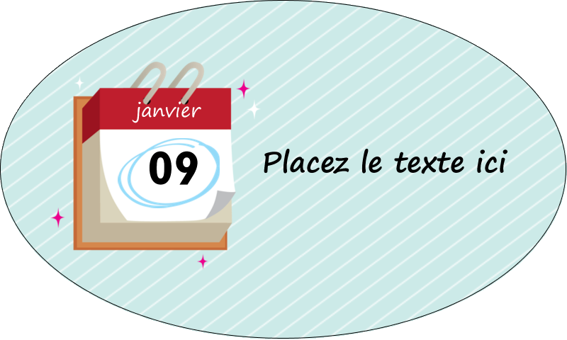 """1½"""" x 2½"""" Étiquettes ovales - Calendrier d'anniversaire"""