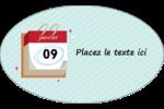 Calendrier d'anniversaire Étiquettes ovales - gabarit prédéfini. <br/>Utilisez notre logiciel Avery Design & Print Online pour personnaliser facilement la conception.