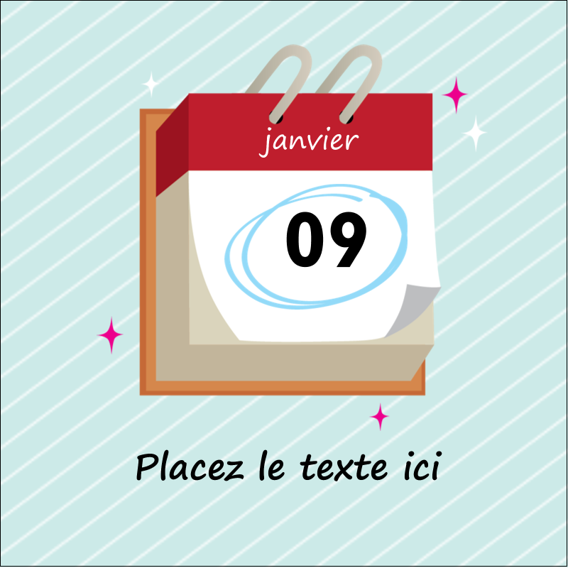"""2"""" x 2"""" Étiquettes carrées - Calendrier d'anniversaire"""
