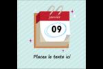 Calendrier d'anniversaire Étiquettes carrées - gabarit prédéfini. <br/>Utilisez notre logiciel Avery Design & Print Online pour personnaliser facilement la conception.