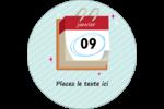 Calendrier d'anniversaire Étiquettes rondes - gabarit prédéfini. <br/>Utilisez notre logiciel Avery Design & Print Online pour personnaliser facilement la conception.