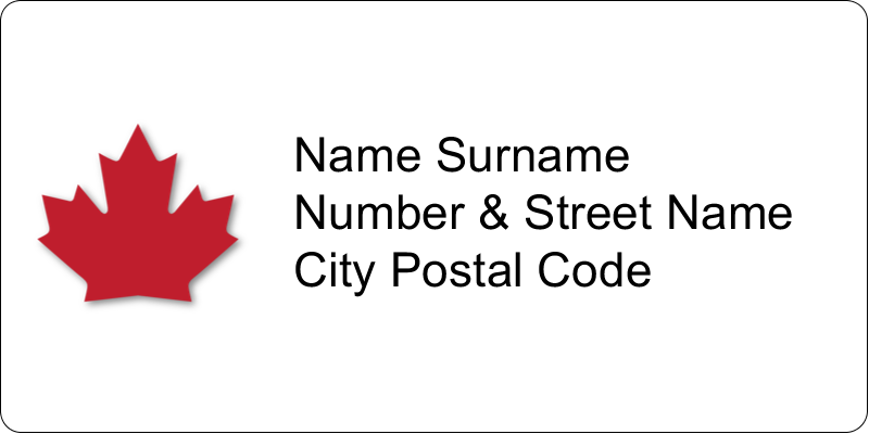 """2"""" x 4"""" Shipping Label - Canada Day"""