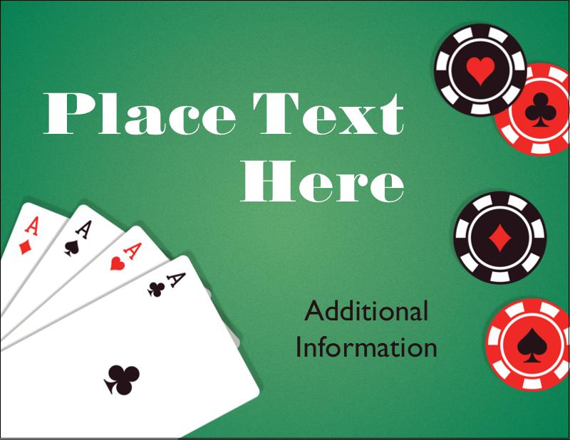 """4¼"""" x 5½"""" Postcard - Poker Game"""