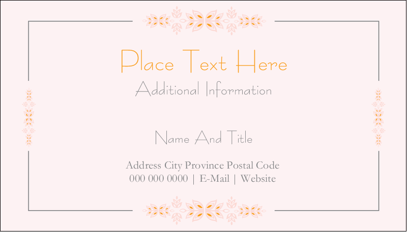 """2"""" x 3½"""" Business Card - Sprig of Leaves"""