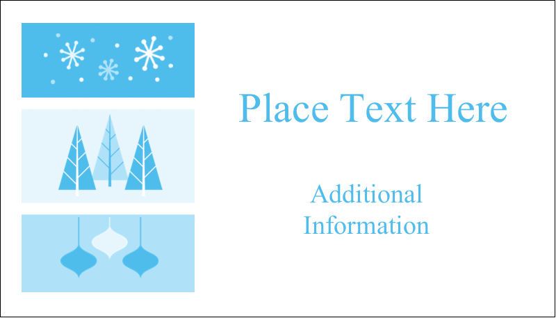 "2"" x 3½"" Business Card - Retro Winter Wonderland"
