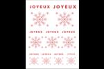 Flocons modernes en rouge Cartes Et Articles D'Artisanat Imprimables - gabarit prédéfini. <br/>Utilisez notre logiciel Avery Design & Print Online pour personnaliser facilement la conception.
