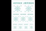 Flocons modernes en bleu sarcelle Cartes Et Articles D'Artisanat Imprimables - gabarit prédéfini. <br/>Utilisez notre logiciel Avery Design & Print Online pour personnaliser facilement la conception.