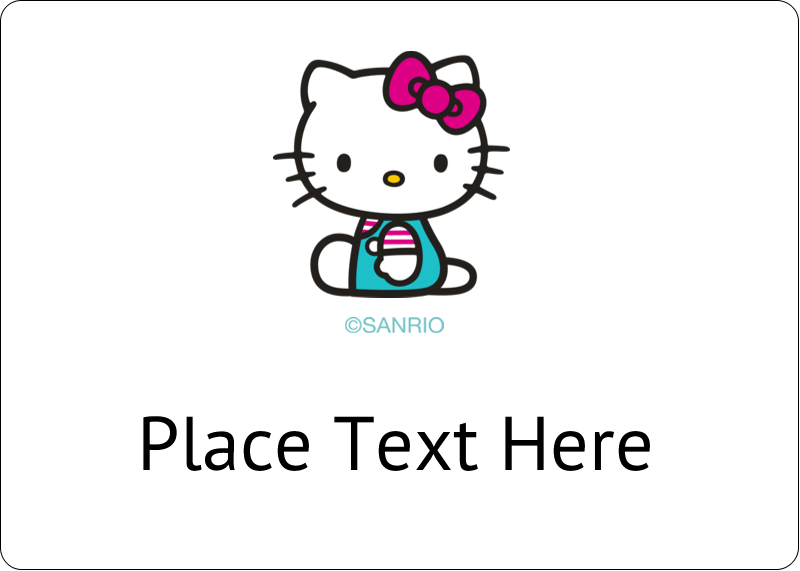 """1¾"""" x 1¼"""" ID Label - Hello Kitty Party"""