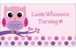 Add youthful, whimsical style to custom projects with pre-designed Owl Dots Pink templates.