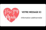 Amour maternel Étiquettes D'Identification - gabarit prédéfini. <br/>Utilisez notre logiciel Avery Design & Print Online pour personnaliser facilement la conception.