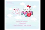 Hello Kitty Saint-Valentin - Mon cœur monte pour vous Étiquettes d'expédition - gabarit prédéfini. <br/>Utilisez notre logiciel Avery Design & Print Online pour personnaliser facilement la conception.