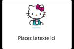Fête Hello Kitty Étiquettes D'Identification - gabarit prédéfini. <br/>Utilisez notre logiciel Avery Design & Print Online pour personnaliser facilement la conception.