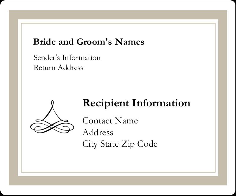 "3⅓"" x 4"" Shipping Label - Simple Wedding"