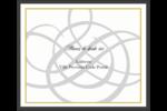 Monogramme de mariage Étiquettes d'expédition - gabarit prédéfini. <br/>Utilisez notre logiciel Avery Design & Print Online pour personnaliser facilement la conception.
