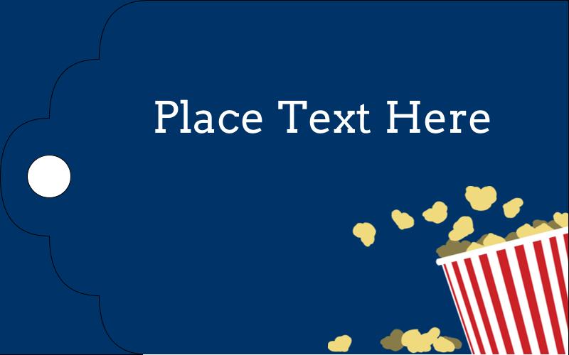 """2"""" x 1⅛"""" Printable Tags - Movie Popcorn"""