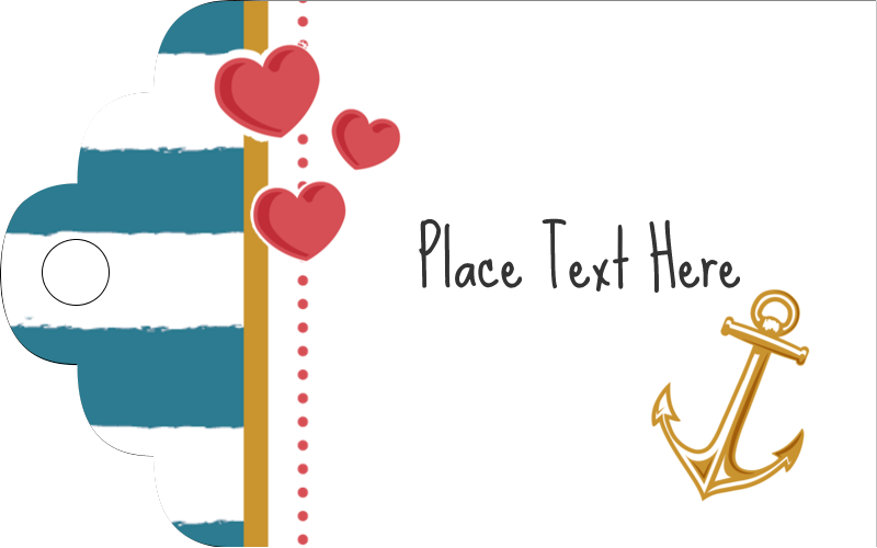 "2"" x 1⅛"" Printable Tags - Valentine Anchor"