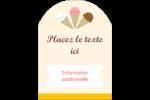 Crème glacée sucrée Étiquettes arrondies - gabarit prédéfini. <br/>Utilisez notre logiciel Avery Design & Print Online pour personnaliser facilement la conception.