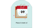 Calendrier d'anniversaire Étiquettes arrondies - gabarit prédéfini. <br/>Utilisez notre logiciel Avery Design & Print Online pour personnaliser facilement la conception.