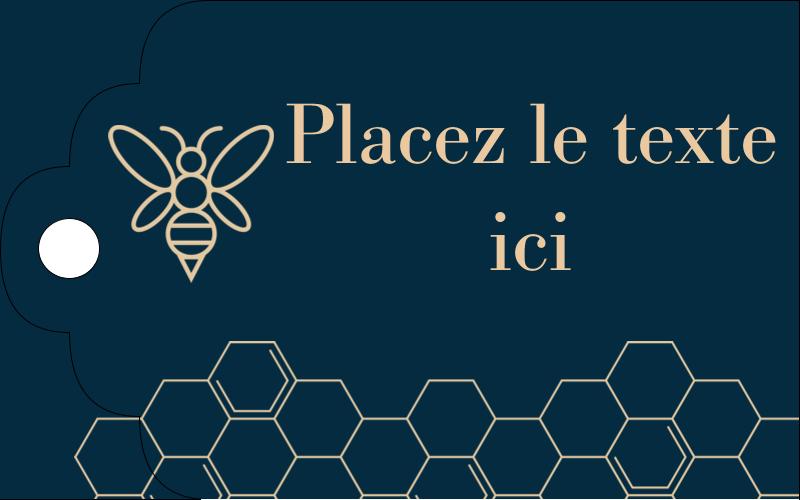 Alvéole d'abeille Étiquettes imprimables - gabarit prédéfini. <br/>Utilisez notre logiciel Avery Design & Print Online pour personnaliser facilement la conception.