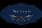Romance Étiquettes ovales festonnées - gabarit prédéfini. <br/>Utilisez notre logiciel Avery Design & Print Online pour personnaliser facilement la conception.
