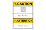 Add eye-catching content to your project with pre-designed GHS ANSI Caution templates.