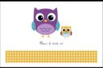 Bébé hibou Cartes de souhaits pliées en deux - gabarit prédéfini. <br/>Utilisez notre logiciel Avery Design & Print Online pour personnaliser facilement la conception.