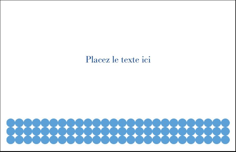 """5½"""" x 8½"""" Cartes de souhaits pliées en deux - Cercles bleus"""
