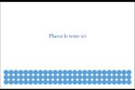 Cercles bleus Cartes de souhaits pliées en deux - gabarit prédéfini. <br/>Utilisez notre logiciel Avery Design & Print Online pour personnaliser facilement la conception.