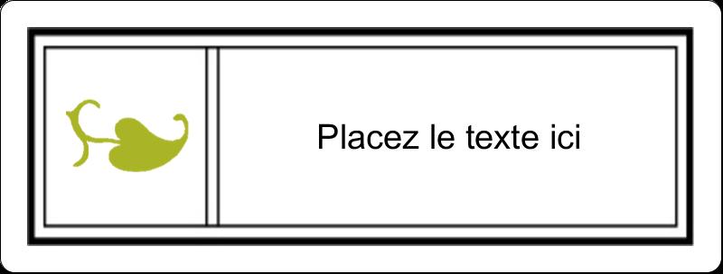 """2⅝"""" x 1"""" Étiquettes Voyantes - Modernité"""