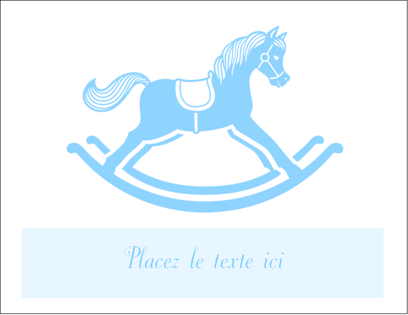 "4¼"" x 5½"" Cartes de notes - Cheval à bascule"