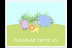 Bébé safari Cartes de notes - gabarit prédéfini. <br/>Utilisez notre logiciel Avery Design & Print Online pour personnaliser facilement la conception.