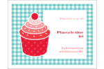 Ensemble pour petits gâteaux Cartes de notes - gabarit prédéfini. <br/>Utilisez notre logiciel Avery Design & Print Online pour personnaliser facilement la conception.