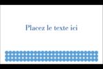 Cercles bleus Cartes d'affaires - gabarit prédéfini. <br/>Utilisez notre logiciel Avery Design & Print Online pour personnaliser facilement la conception.