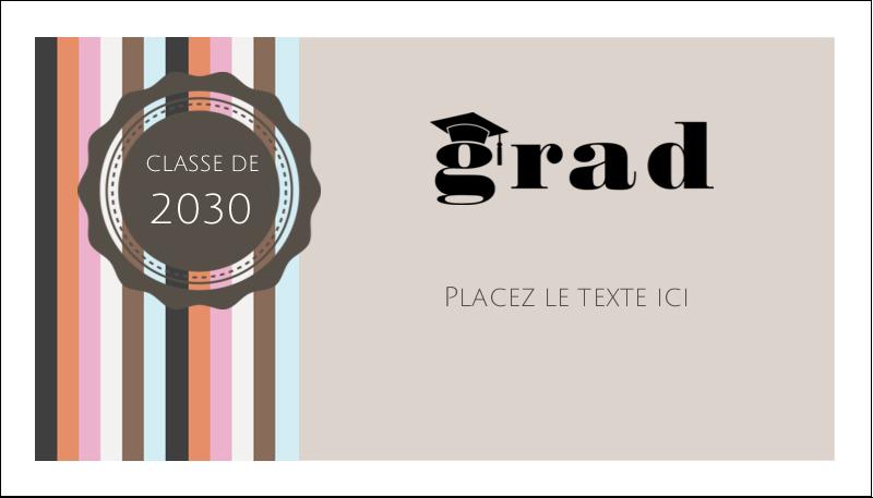 """2"""" x 3½"""" Cartes d'affaires - Mortier de diplômé"""