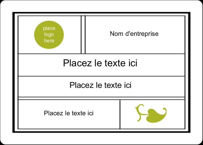 """1¾"""" x 1¼"""" Étiquettes D'Identification - Modernité"""