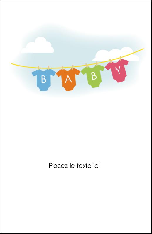 """8½"""" x 5"""" Cartes Et Articles D'Artisanat Imprimables - Combinaisons pour bébé"""