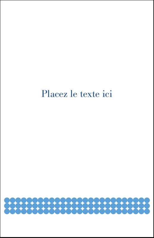 """8½"""" x 5"""" Cartes Et Articles D'Artisanat Imprimables - Cercles bleus"""