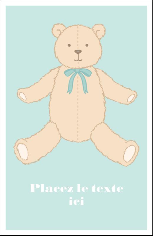 """8½"""" x 5"""" Cartes Et Articles D'Artisanat Imprimables - Nounours pour bébé"""