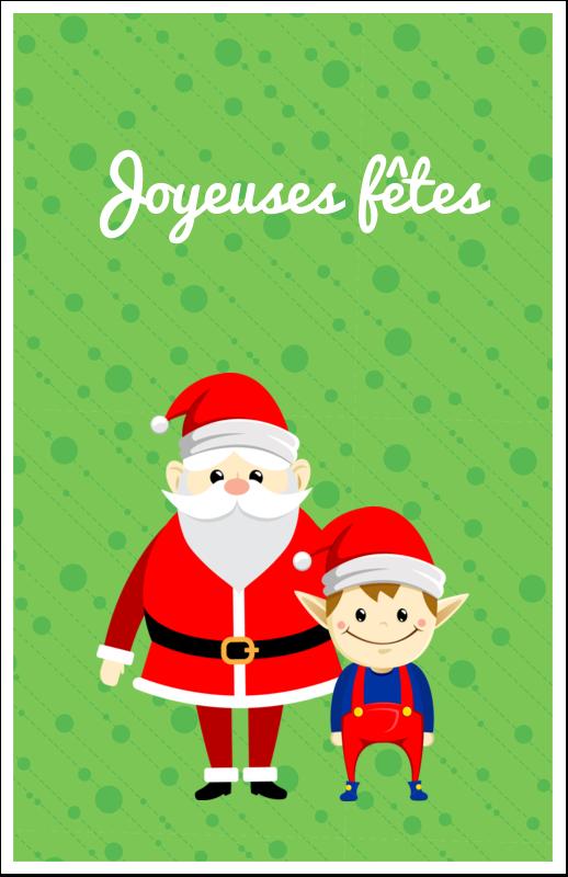 """8½"""" x 5"""" Cartes Et Articles D'Artisanat Imprimables - Père Noel et Henri le Lutin"""