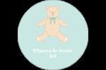 Nounours pour bébé Étiquettes Voyantes - gabarit prédéfini. <br/>Utilisez notre logiciel Avery Design & Print Online pour personnaliser facilement la conception.