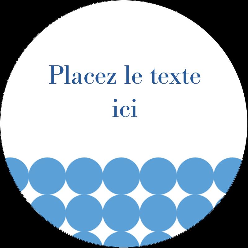 """1½"""" Diameter Étiquettes Voyantes - Cercles bleus"""