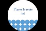 Cercles bleus Étiquettes Voyantes - gabarit prédéfini. <br/>Utilisez notre logiciel Avery Design & Print Online pour personnaliser facilement la conception.
