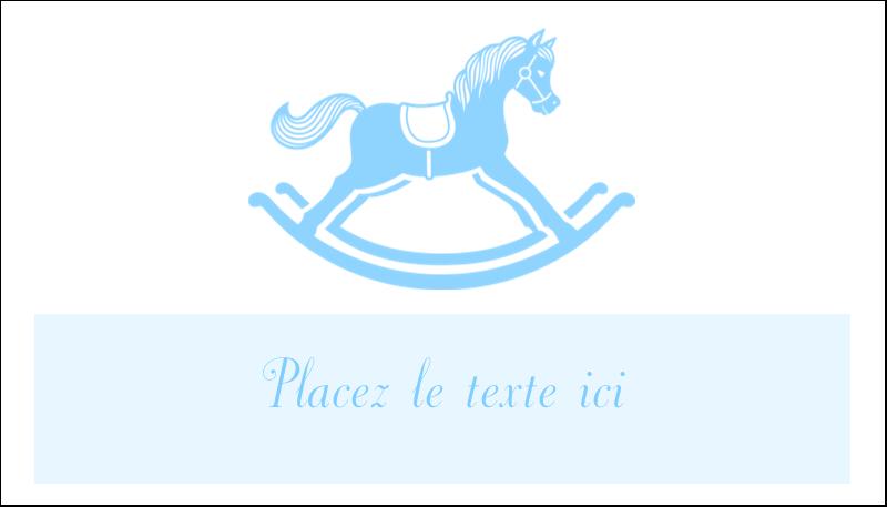 """2"""" x 3½"""" Carte d'affaire - Cheval à bascule"""