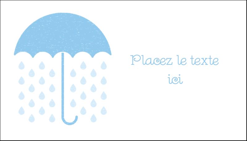 """2"""" x 3½"""" Carte d'affaire - Parapluie pour bébé"""