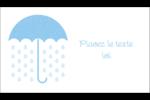 Parapluie pour bébé Carte d'affaire - gabarit prédéfini. <br/>Utilisez notre logiciel Avery Design & Print Online pour personnaliser facilement la conception.