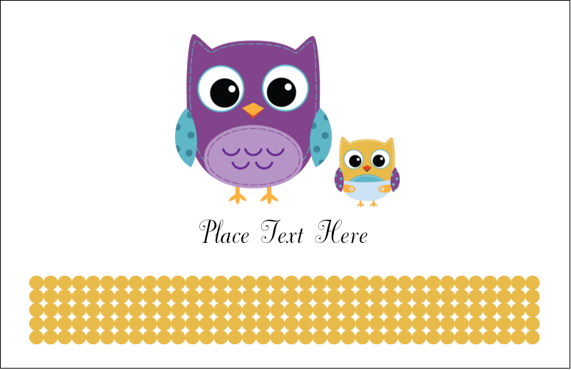 "5½"" x 8½"" Greeting Card - Baby Owl"