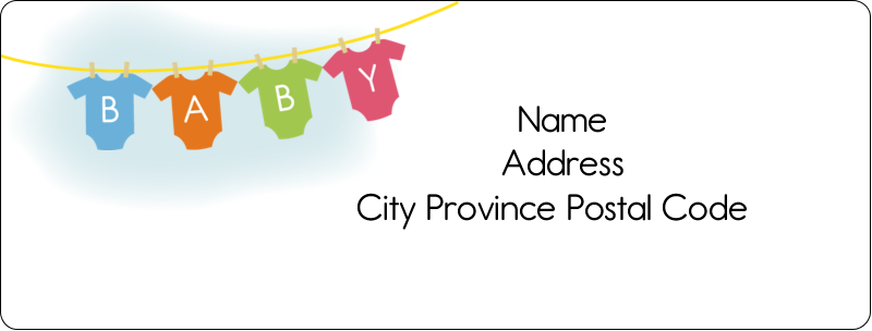 "1"" x 2⅝"" Address Label - Baby Onesies"