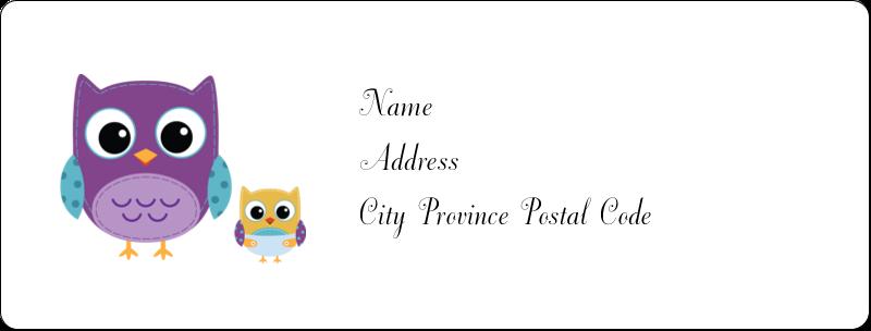 """1"""" x 2⅝"""" Address Label - Baby Owl"""