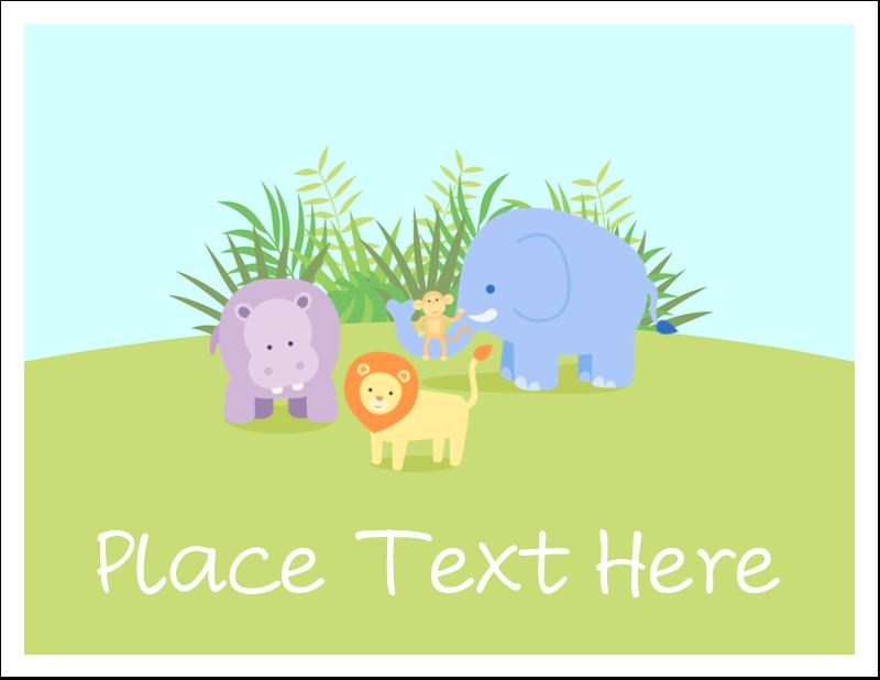"""5½"""" x 4¼"""" Note Card - Baby Safari"""