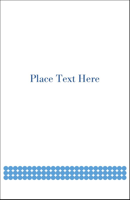 "5"" x 8½"" Half Fold Card - Blue Circles"